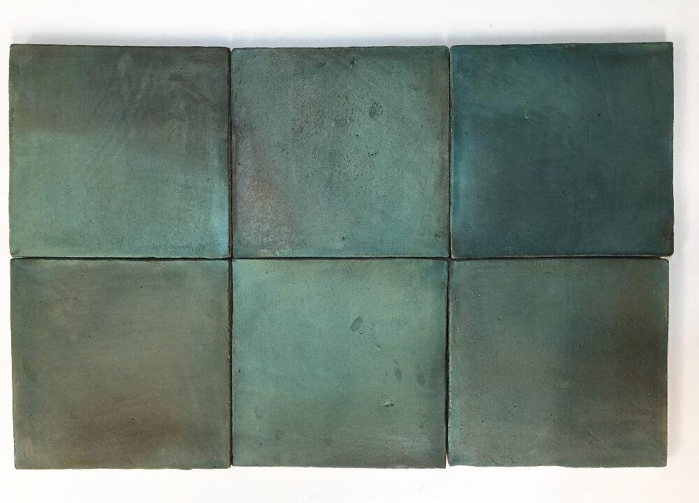 Cuadrado verde esmeralda serie Mediterránea
